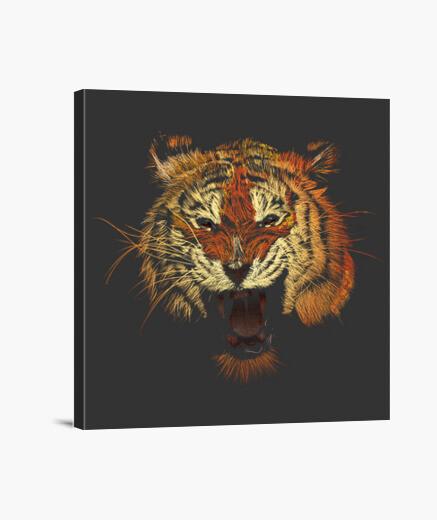 Lienzo Tigre Rugido Color