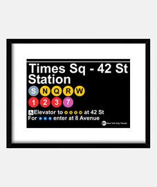 times square - poste 42 de la rue