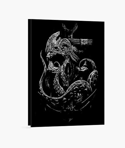 Tableau Toile - Dark Skull Anchored Skull