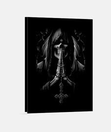 Toile - Dark Skull Reaper Santa Muerte