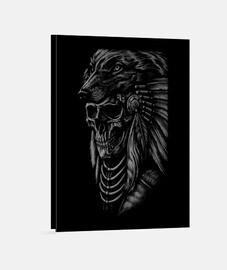 Toile - Dark Skull Wolf Apache