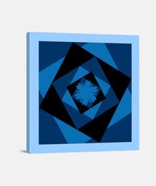 toile carrée en azulito.remolino de chats porte-bonheur en arrière-plan