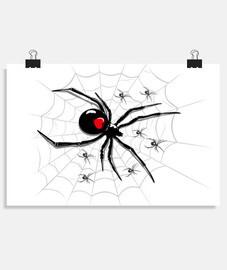 toile d39araignée avec de petites araig