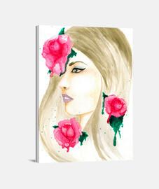 toile de fond blanc roses