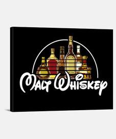 toile de whisky horizontale malt 4: 3 - (40 x 30 cm)