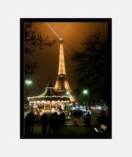 Torre Eiffel nocturna