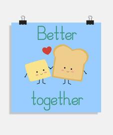 Tostada y mantequilla