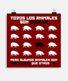 tous les animaux son égaux 2 (rouge)