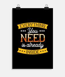 tout ce dont vous avez besoin