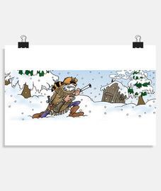 Trapeur sous la neige