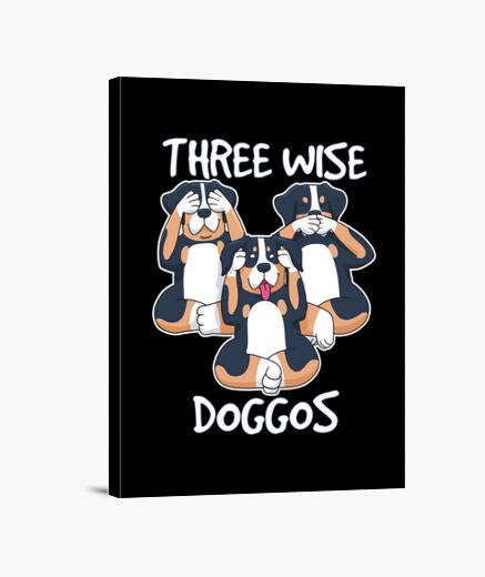 trois doggos sages