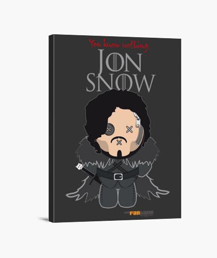 Lienzo Tronos - Jon Snow