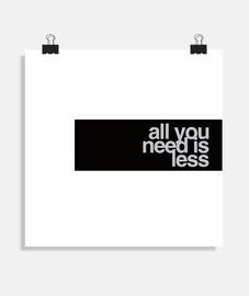 tutto ciò di cui hai bisogno è di meno