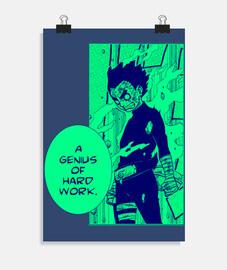 Un Genio del trabajo duro, Póster vertical 2:3 - (20 x 30 cm)