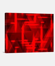 Un patrón cuadrado de rectángulos de color rojo sobre un fondo negro.