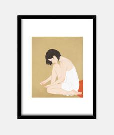 une femme qui peint une pédicure