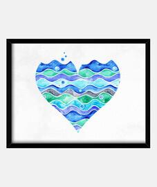 une mer d'amour (rectangulaire)