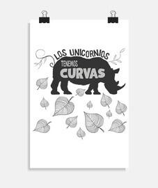 unicornio con curvas