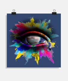 Universe Eye - Póster cuadrado 1:1 - (40 x 40 cm)