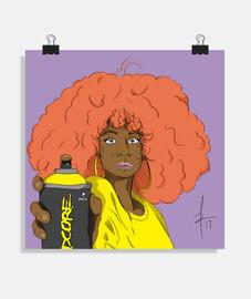 Urban Girl - Graffitera - Poster