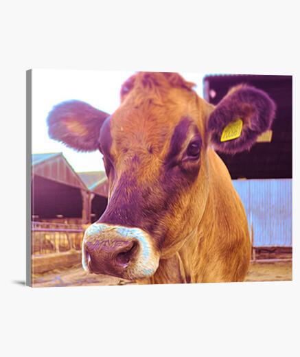 Lienzo vaca floral