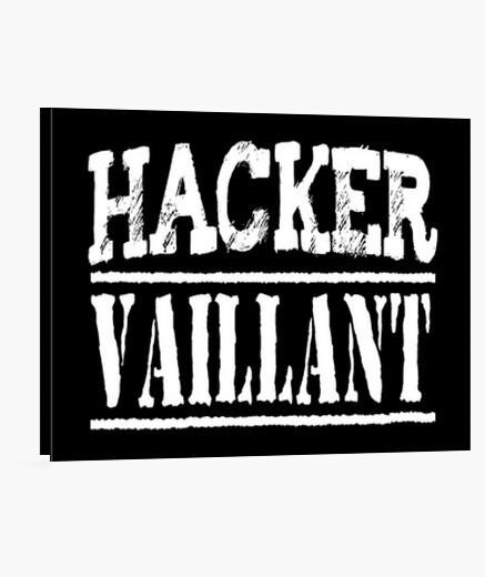 Stampa su tela valoroso hacker