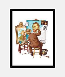 van gogh triple auto-portrait print