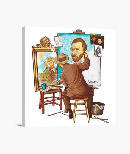 Lienzo Van Gogh Triple Self-portrait