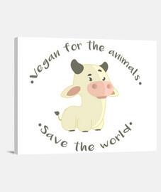 Vegan for the animals - Lienzo
