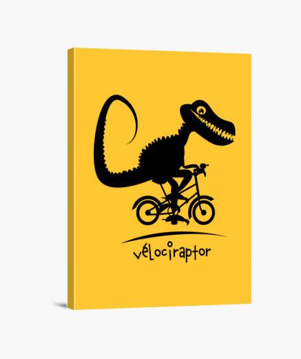 Lienzo velociraptor