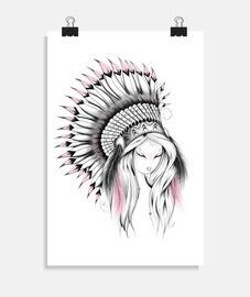 versión rosa de tocado indio
