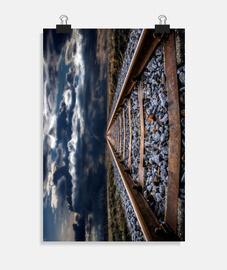 Vías del tren hacia el infinito