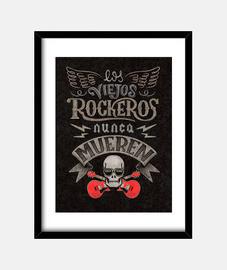 Viejos Rockeros Print