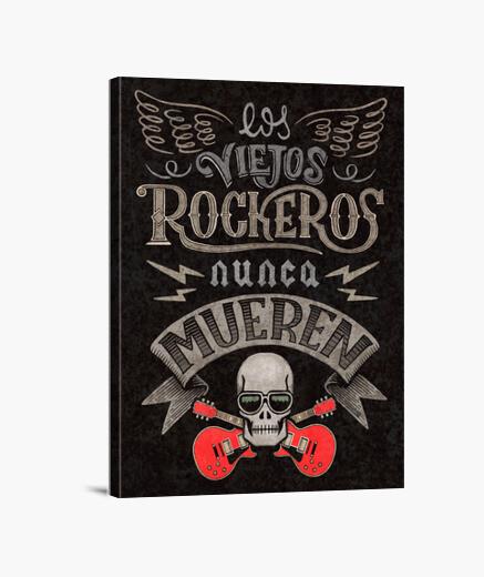 Lienzo Viejos Rockeros Print