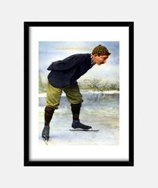 Vintage - Hombre patinando