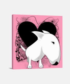 vintage heart bull terrier