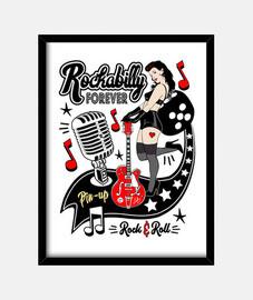 vintage rockabilly pin up rocker vintage rock and roll