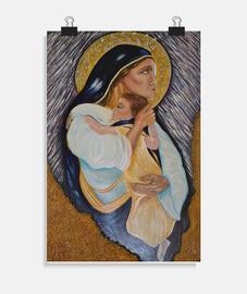 Virgen con el Niño (póster)
