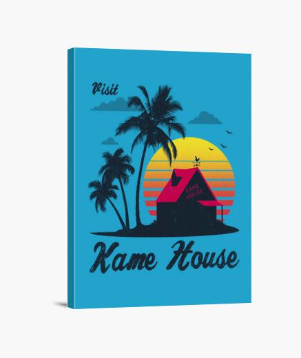 Stampa su tela visita la casa di Kame