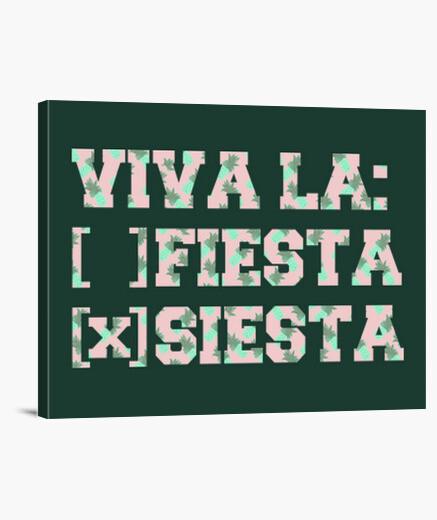 Lienzo Viva la: ( ) fiesta ( X ) siesta - Piñas