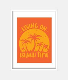 vivre sur l39île palmiers et coucher de