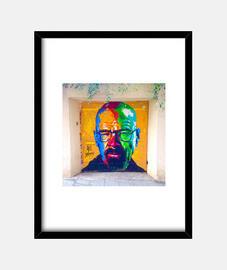 Walter White - Cuadro con marco negro vertical 3:4 (15 x 20 cm)