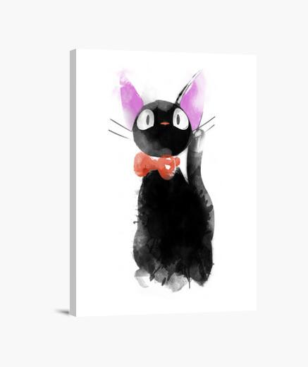 Watercolor cat canvas