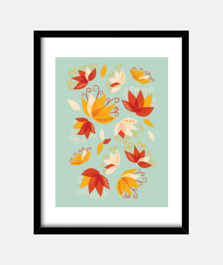 Whimsical Abstract Lily Flowers
