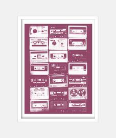 white vintage cassettes 2
