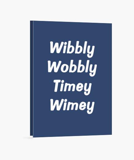 Lienzo wibbly tambaleante