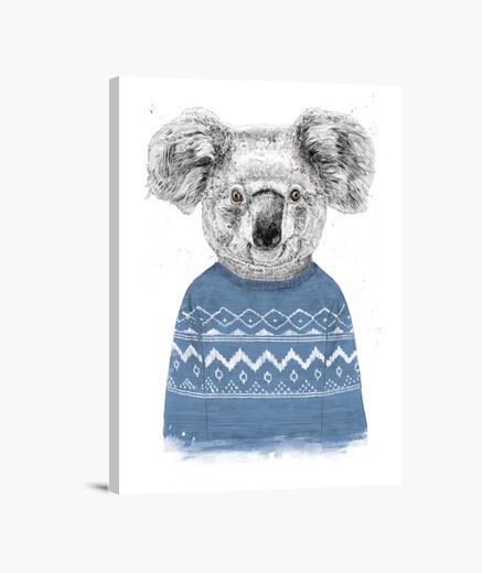 Winter koala canvas