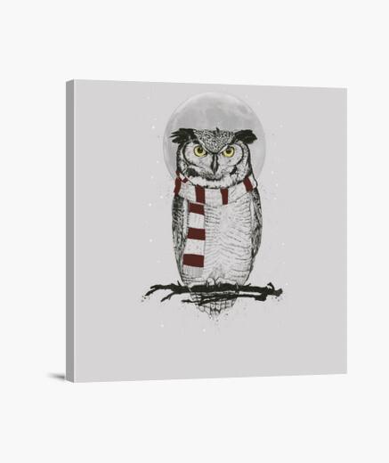 Winter owl canvas