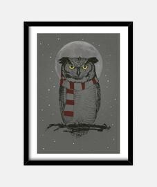 Winter owl cuadro