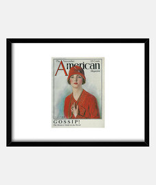 woman with red hat, american magazi